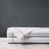 ENZO WHITE/BISQUE KING FLAT SHEET