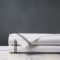 ENZO WHITE/BLACK FLAT SHEET