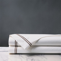 ENZO WHITE/BROWN FLAT SHEET
