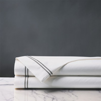 ENZO WHITE/DOVE FLAT SHEET