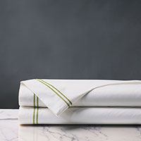 ENZO WHITE/LIME FLAT SHEET
