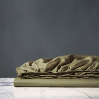 NUVOLA LUXE OLIVA FITTED SHEET