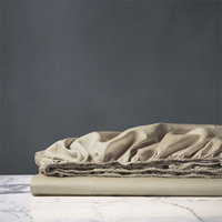 NUVOLA LUXE SABLE FITTED SHEET