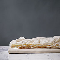 EMILIO IVORY KING FITTED SHEET