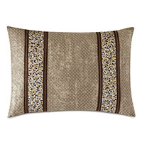 INDOCHINE METALLIC STRIPE DECORATIVE PILLOW