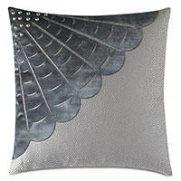 INDOCHINE VELVET APPLIQUE DECORATIVE PILLOW