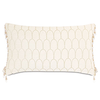 JOLENE SCALLOPED DECORATIVE PILLOW