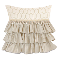 JOLENE RUFFLED DECORATIVE PILLOW