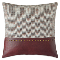 KILBOURN NAILHEAD DECORATIVE PILLOW