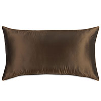 Freda Taffeta King Sham in Chocolate
