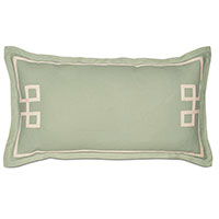 Resort Mint Fret King Sham