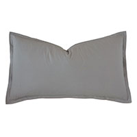 Vail Percale King Sham in Heather