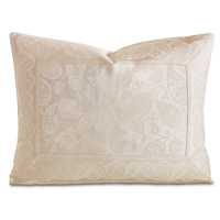 Henna White King Sham Eastern Accents