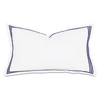 TESSA WHITE/NAVY KING SHAM