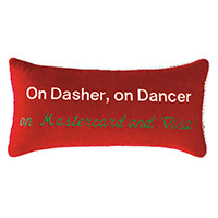 On Dasher, on Dancer, on Mastercard and Visa!