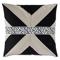 MADDOX MITERED PLEAT DECORATIVE PILLOW
