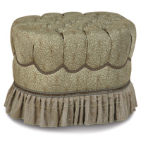 LAURENT SPA OVAL TUFTED OTTOMAN