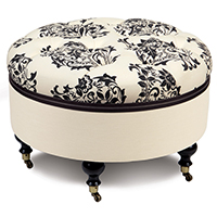 EVELYN ROUND OTTOMAN