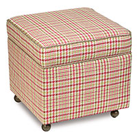 BLIGHT ROSE STORAGE BOXED OTTOMAN