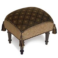 BIRKDALE CHOCOLATE PILLOW TOP STOOL