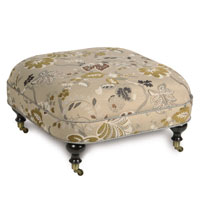 CALDWELL OTTOMAN ON CASTERS