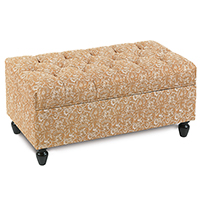 Fellows Amber Storage Chest Ottoman