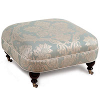 CARLYLE OTTOMAN ON CASTERS