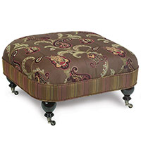 AMELIE OTTOMAN ON CASTERS