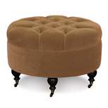 BACH MONARCH GOLD ROUND OTTOMAN