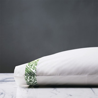 Adelle Percale Pillowcase In Grass