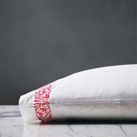 Adelle Percale Pillowcase in Pink