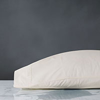 Vail Percale Pillowcase in Ivory
