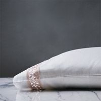 JULIET WHITE/FAWN PILLOWCASE