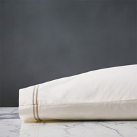 ENZO IVORY/BISQUE KING PILLOWCASE