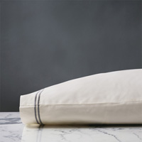 ENZO IVORY/DOVE KING PILLOWCASE
