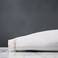 ENZO WHITE/BISQUE KING PILLOWCASE