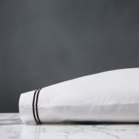 ENZO WHITE/BLACK PILLOWCASE