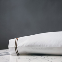 ENZO WHITE/BROWN PILLOWCASE