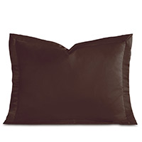 Charmeuse MOCHA QUEEN SHAM
