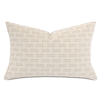 MONTEROSA BASKETWEAVE QUEEN SHAM