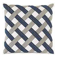 Saya Basketweave Decorative Pillow