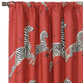 Le Zebre Rouge Curtain Panel