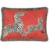 Le Zebre Rouge Pillow (Right)