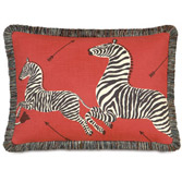 Le Zebre Rouge Pillow (Left)