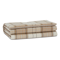 ALDRICH PLAID BED SCARF