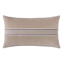 Safford Chevron Border Decorative Pillow in Khaki