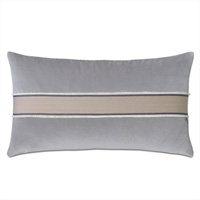 Safford Chevron Border Decorative Pillow in Gray