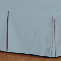 Fresco Classic Azure Pleated Bed Skirt