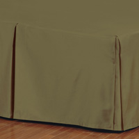 FRESCO CLASSIC OLIVA PLEATED BED SKIRT