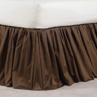 SERICO BROWN SKIRT RUFFLED